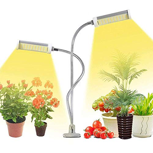 50W Plant Grow Light, Indoor Plant Plant Light with 100 LED Growing Lamps Full Spectrum, 360 Degree;3 Modes Adjustable gooseneck Timer for Growing Flower Seeds