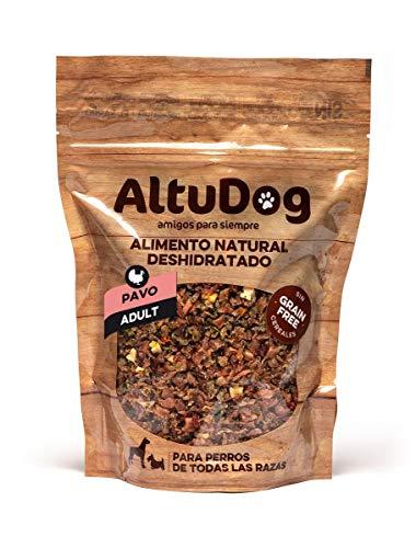 ALTUDOG Alimento Natural deshidratado para Perros Adultos Pavo SIN Cereales Adult 500g - Comida Natural para Perros (500g)