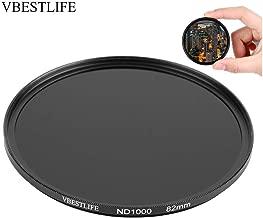 Vbestlife ND1000 Filter  Ultra Slim Optical Glass Multiple Coated Neutral Filter Filter Lens Protective Filter for DSLR  49-82mm   82mm