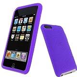iGadgitz U0060 Silikon Hülle Etui Case Schutzhülle Tasche Kompatibel mit Apple iPod Touch 2. & 3. Generation mit Schutzfolie - Lila