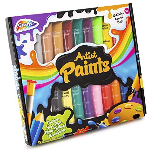 Grafix 18 Farben zum Basteln, Mehrfarbig, 16-7009