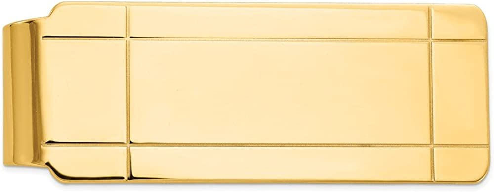 Solid 14k Yellow Gold Dallas Mall Men's Slim Ranking TOP17 Credit Mon Holder Card Business