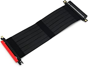 HLT PCI Express 3.0 16x Riser Card,PCIe Extension High Speed Flexible Cable (20cm)
