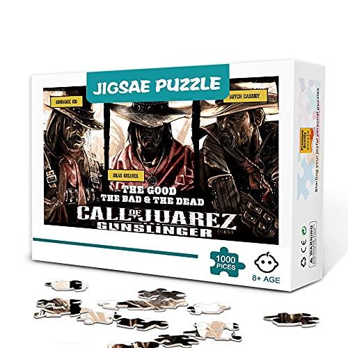 Rompecabezas 1000 Piezas Juego clásico Call of Juarez Gunslinger Puzzle Entretenimiento Juegos...