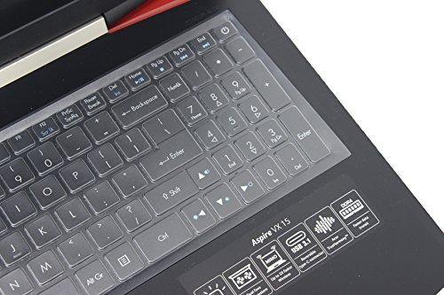 Leze - Ultra Thin Soft Keyboard Protector Skin Cover for Acer Aspire VX 15 VX5-591G, Aspire V15 VN7-593G,Predator Helios 300,Aspire V17 VN7-793G Gaming Laptop US Layout - TPU