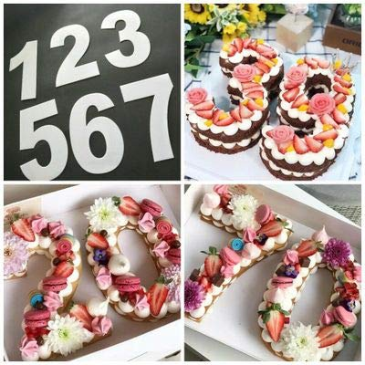 6/8 inch Letters Numbers Shape Cake Embossing Acrylic Cutter Decorating Stencil Sugar Cake Digital Stamper Cutter Fondant Mould Gift (8 inch)