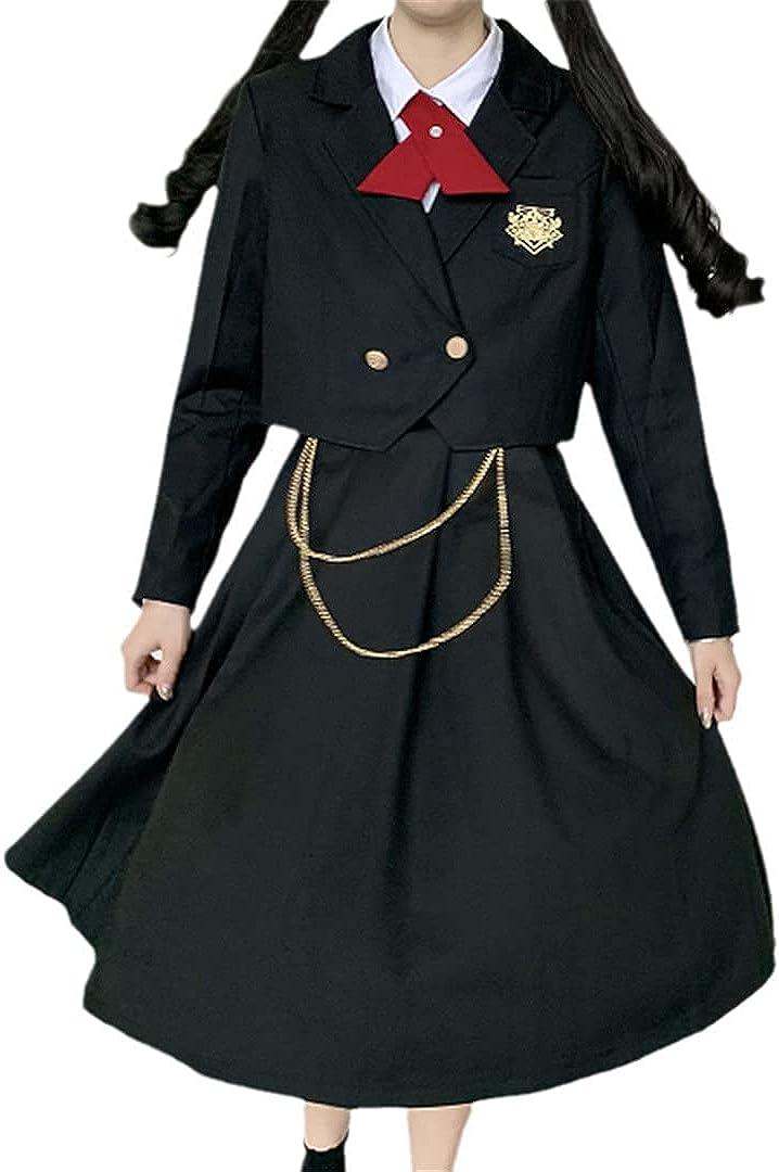 2-Piece Women's Nursing Skirt Pleated Top Dress JK Uniform Dark Jk Suit Two-Piece Suit