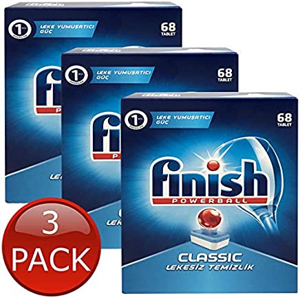 Finish POWERBALL Classic DISHWASHING Original Dishwasher 68/204/340/476 Tablets 3 x 68 Tablet