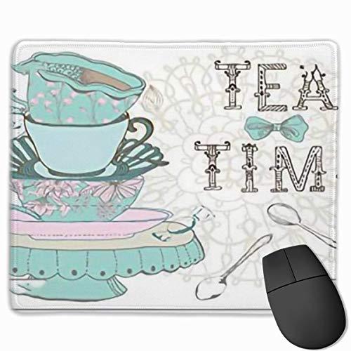 Alfombrilla de ratón, Alfombrilla de Escritorio, Vintage Estilo Vintage Tea Party Party...