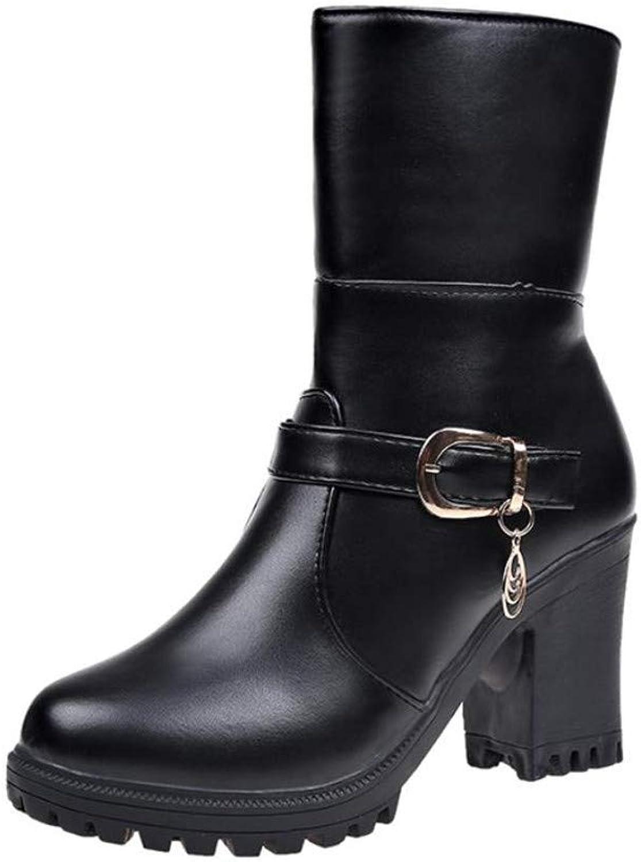Unyielding1 Women's Waterproof Boots Winter Rain Snow Mid Boots Winter Boots Outdoor Boots