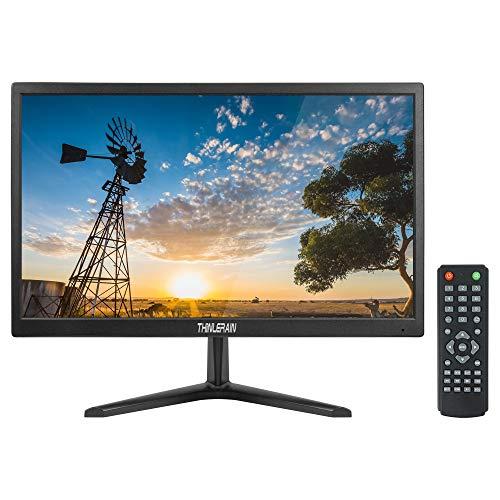 Thinlerain 20 Zoll Surveillance Screen LED Display CCTV Monitor, 1600 x 900 PC Monitor with VESA Wall Mount Built-in Speaker, BNC/VGA/HDMI/AV/Audio, Thinlerain
