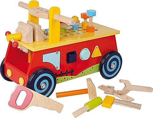 Auto Dose mit + Werkbank aus Holz + Werkzeug 1. Alter Baby mädchen Jungen