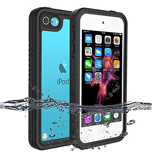 iPod Touch 7 Case iPod Touch 6 Case iPod Touch 5 Waterproof Case BESINPO FullBody Protective Cover Builtin Screen Protector Dustproof Shockproof AntiScratch Case for iPod Touch 7/6/5 Generation