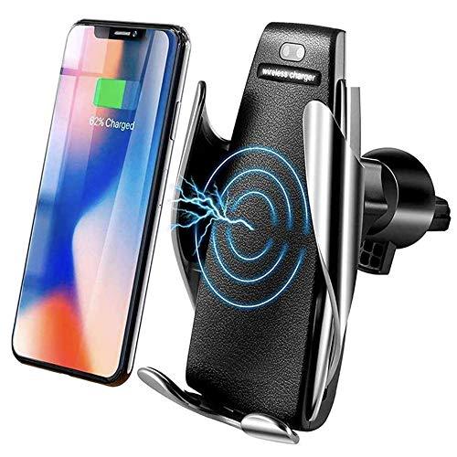 MMOBIEL Soporte Cargador inalámbrico teléfono para el Coche Sensor infrarrojo Qi Carga rápida 5W/7.5W/10W Compatible con iPhone 12/11/X Samsung S20/S10 Note 20/10
