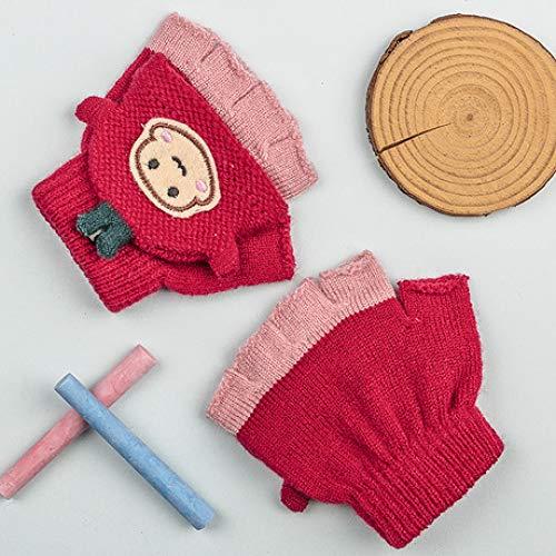 SUNHAO Gants pour Enfants - Gants Chauds - Sac de Fil à Tricoter - Tongs