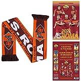 Set regalo ufficiale AS Roma Serie A Football Player 2021 con calendario da parete e sciarpa