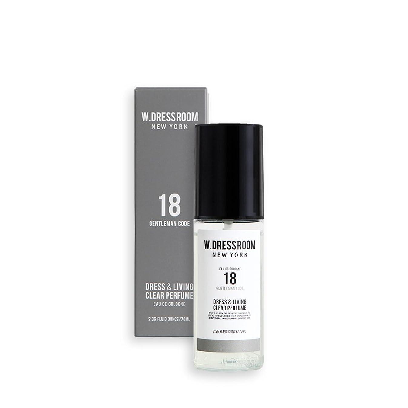 師匠サージ日焼けW.DRESSROOM Dress & Living Clear Perfume 70ml/ダブルドレスルーム ドレス&リビング クリア パフューム 70ml (#No.18 Gentleman Code) [並行輸入品]