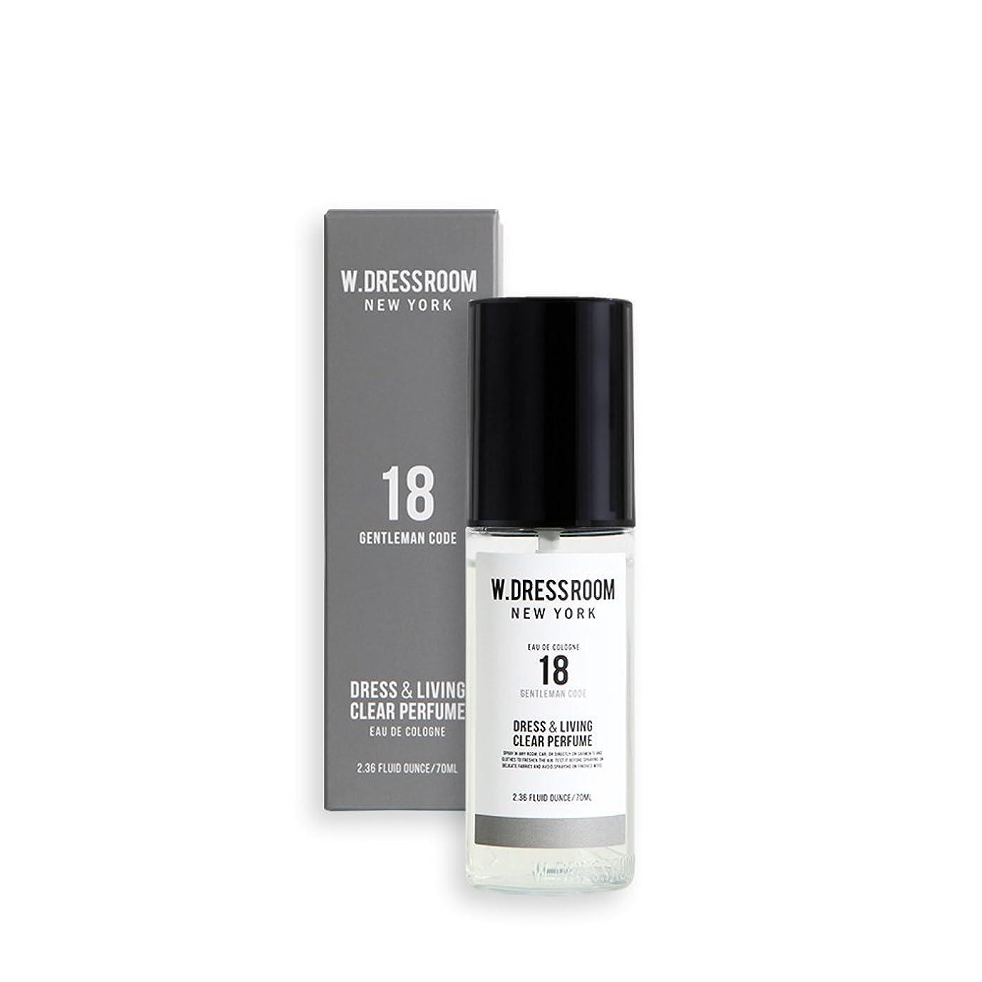 水曜日光沢のある平凡W.DRESSROOM Dress & Living Clear Perfume 70ml/ダブルドレスルーム ドレス&リビング クリア パフューム 70ml (#No.18 Gentleman Code) [並行輸入品]
