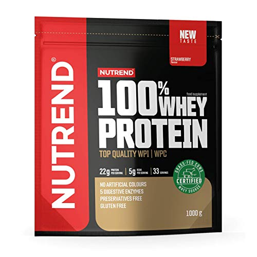 Nutrend 100% Whey Protein – Whey Protein Concentrate – Protein Powder for Muscle – Supplement Bodybuilding – Amino Acid – BCAA - Package of 1 x (White Chocolate Coconut, 2250g)