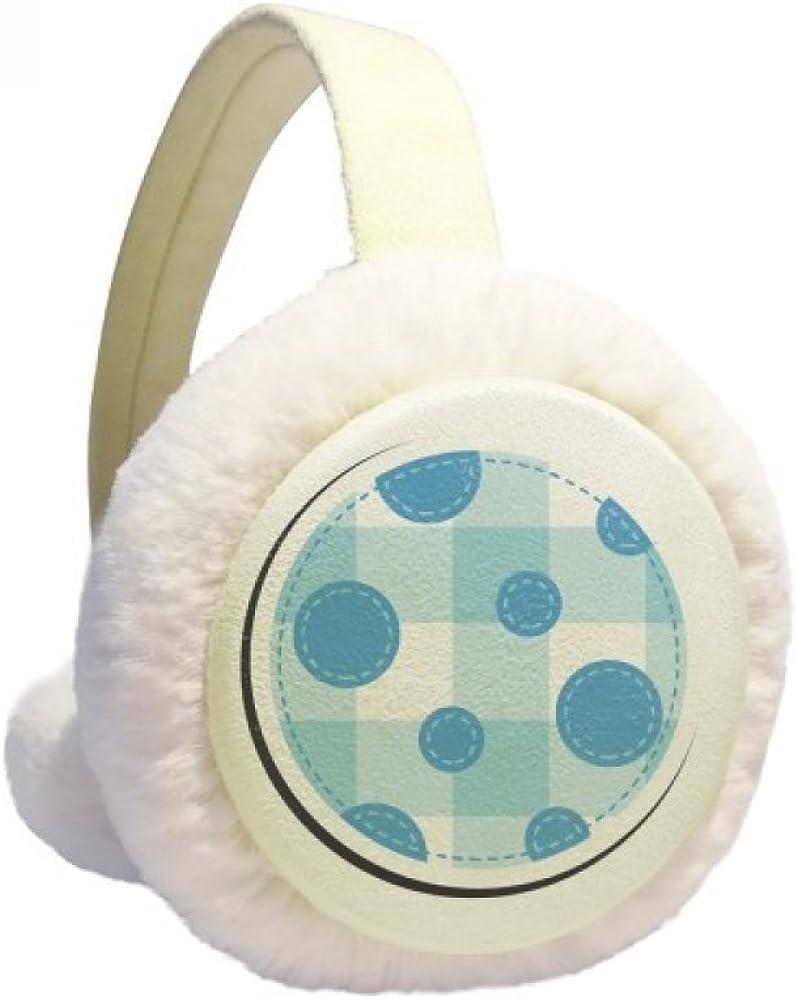 Universe And Alien Moon Winter Ear Warmer Cable Knit Furry Fleece Earmuff Outdoor