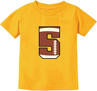 Gift for 5 Year Old 5th Birthday Football Youth Kids T-Shirt