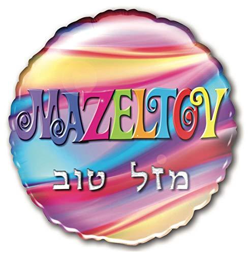 Eine große Ballon Helium-Text: Mazeltov in Englisch und hebräischer Jüdische, ideal für party