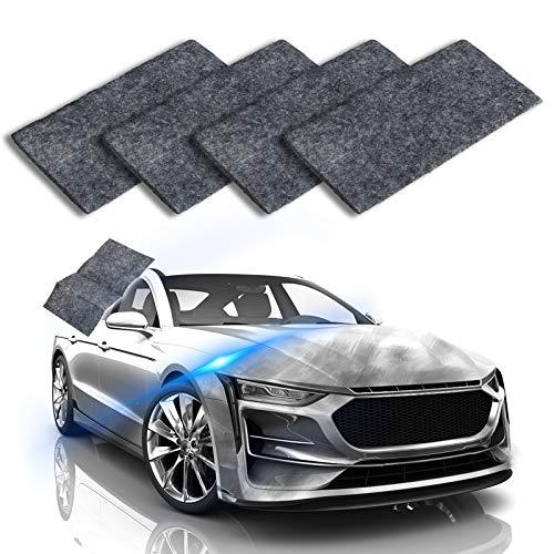 LIUMY Kratzer Entferner Auto, 4pcs Kratzerreparatur Tuch für Scratch Repair effektiv, mit Autolack Lackpflege geeignete jedes Auto Typen (Schwarz)