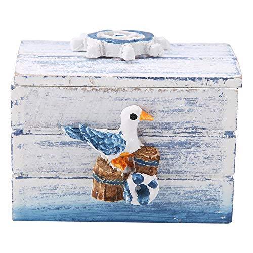 Kleine, mediterrane sieraden van hout, opbergdoos voor snoep, draagbaar, bureau, opbergdoos voor kunstenaars, knutselwerk, schilderkunst