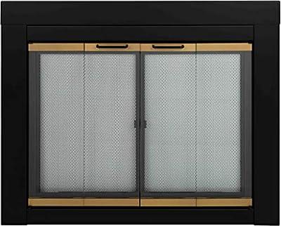 Pleasant Hearth AR-1021 Arrington Fireplace Glass Door, Black, Medium from Pleasant Hearth