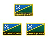3 Stück Saint Lucia bestickte Flaggen-Emblem-Applikation zum Aufbügeln oder Aufnähen.
