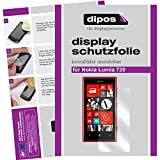 dipos I 2X Schutzfolie klar kompatibel mit Nokia Lumia 720 Folie Bildschirmschutzfolie