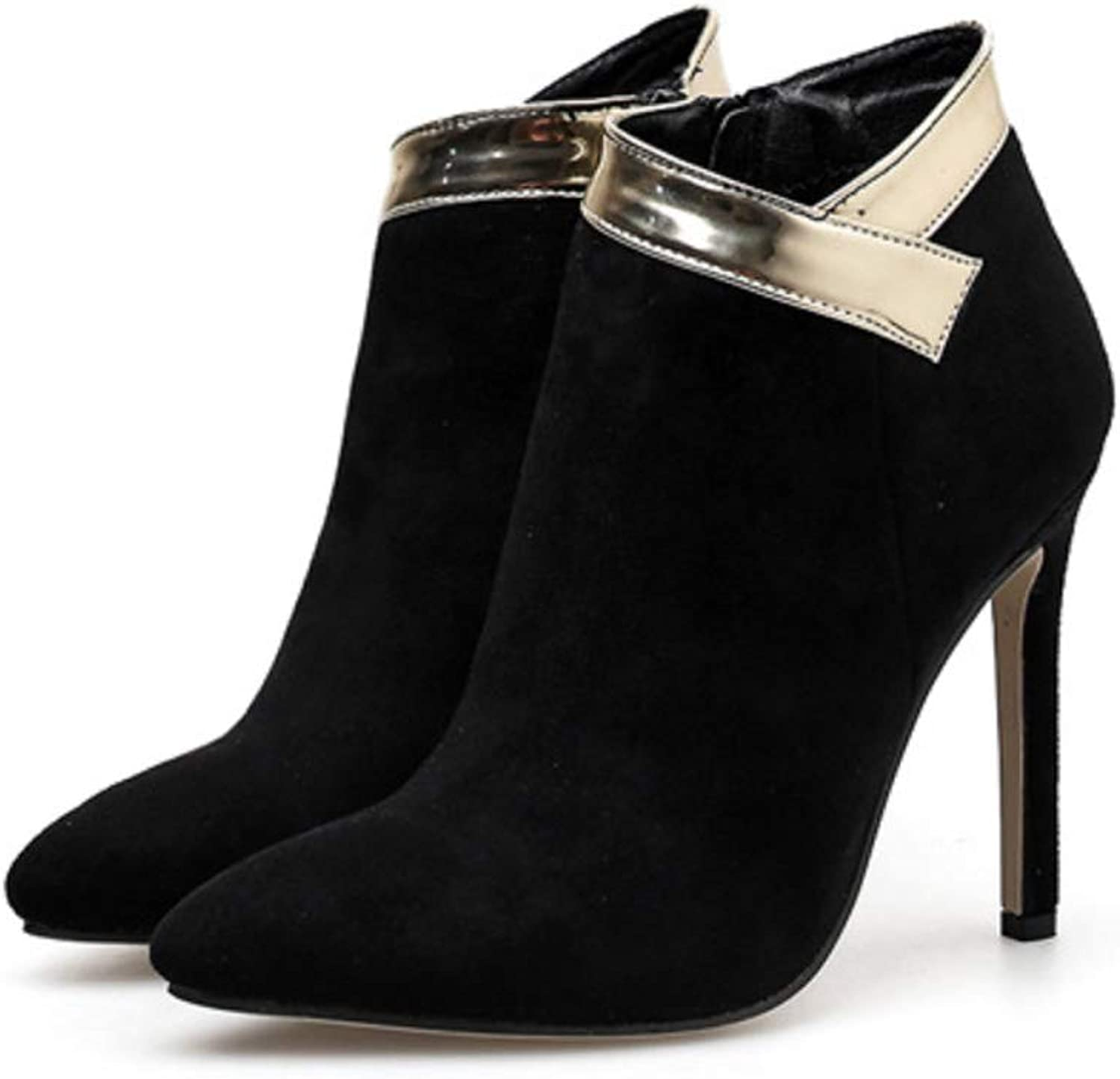 Women's shoes Fashion Ankle Boots Stiletto Heel Pointed Toe Zipper 2018 Fall