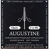 【国内正規品】バラ弦 AUGUSTINE オーガスティン クラシックギター弦 BLACK LOW TENSION 6弦(E)