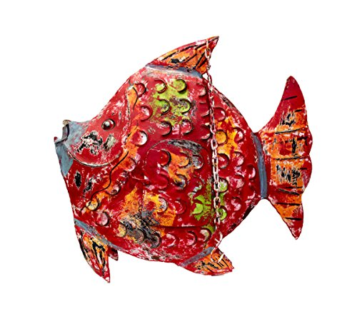Keyhome Décoration en métal photophore décoration colorée d'intérieur ou de Jardin Statuette Animal en Fer avec Finitions décoration Maison - Hauteur 63 cm