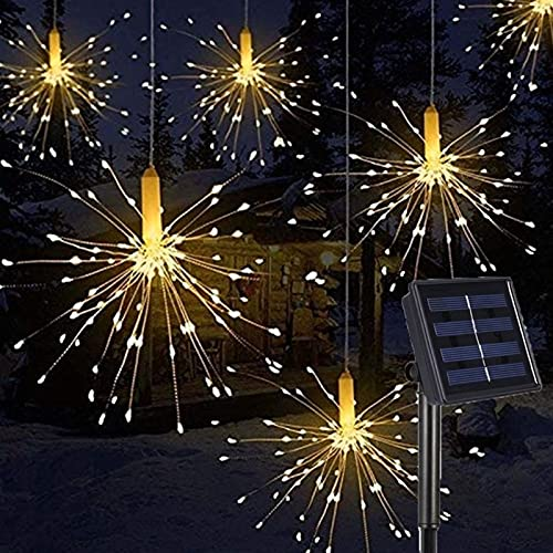 Festoon Lights Has Multiple Uses Convenient Durable And Harmless DIY Outdoor Garden Decoration LED Firework Explosion Christmas Fairy Light With Solar Power Hanging Starburst LED String Garland