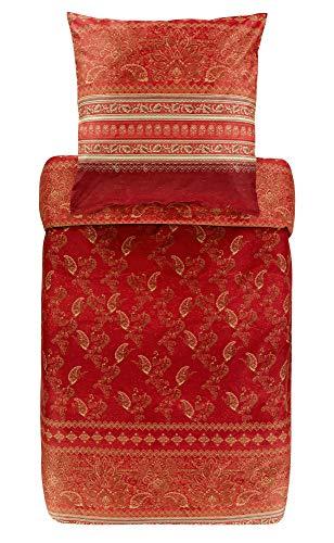 Bassetti Matera R1 - Juego de Cama (155 x 220 cm), Color Rojo