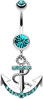 Anchor Dock 316L Surgical Steel Belly Button Ring
