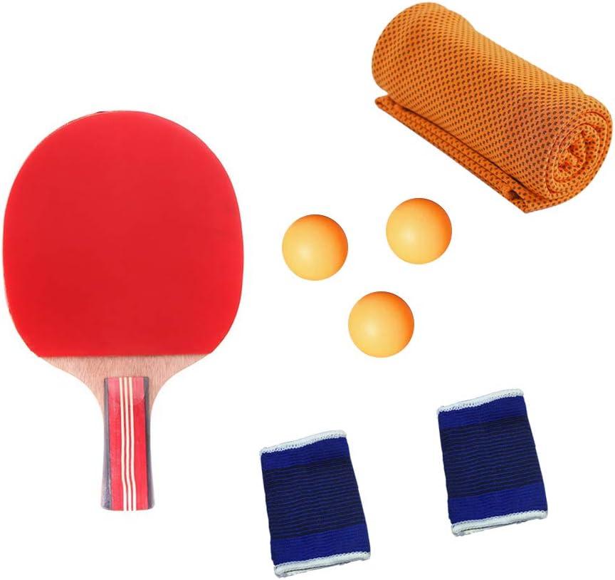 KINDOYO Raquetas de Tenis de Mesa - Pala Juego de Tenis de Mesa Portátil para Interior al Aire Libre