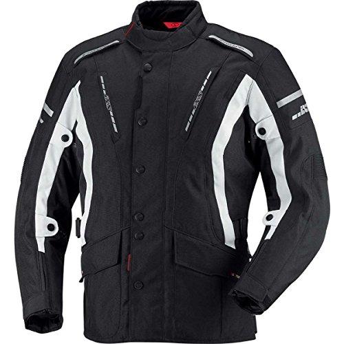 IXS Trago - Giacca in tessuto da moto, Uomo, 1, nero/bianco, M