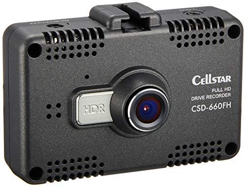 【Amazon.co.jp限定】セルスタードライブレコーダー CSD-660FH/AMZ 日本製3年保証 200万画素 駐車監視対応 直結用コード付属 Full HD画質 コードクリップ付属