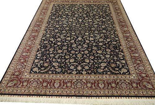 """Turkish Herike Design Handmade Pure Silk Chinese Area Rug 9'0"""" x 6'1"""""""