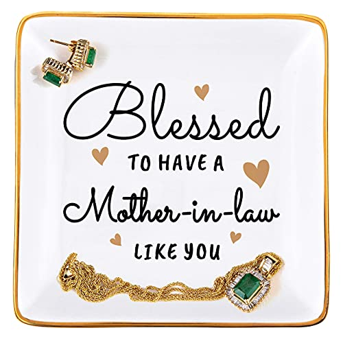 RELISSA Gifts for Mother-in-Law from Daughter-in-Law, Jewelry Tray...