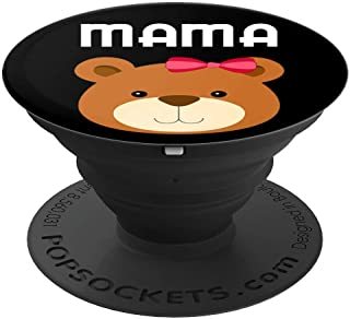 Mama Bear Papa Bear Matching Family Shirt Mom Dad Cute Gift PopSockets Grip and Stand for Phones and Tablets