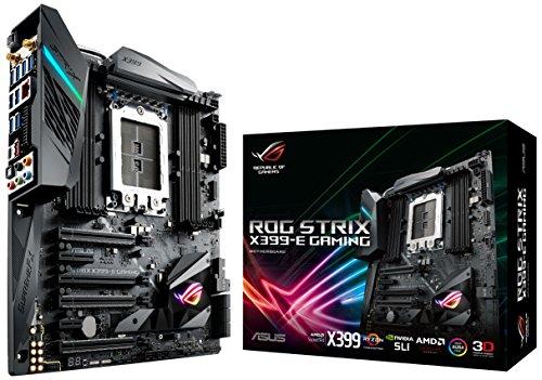 Asus ROG Strix X399-E Gaming Mainboard Sockel TR4 (EATX, AMD Ryzen Threadripper, 8x DDR4-Speicher mit 3600+MHz, Dual M.2 Sockel, Aura Sync RGB, USB 3.1)