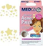 Parche para acné universal MEDca, cubierta absorbente, paquete de 56 parches con forma de corazón y estrellas