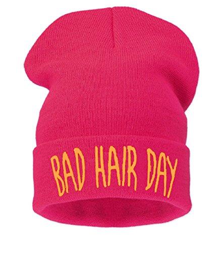 4sold Beanie Mütze Hat Mütze Bad Hair Day Fuckin Problems Comme des Fuckdown.Hit Neu 200 Models (BHD Fuchsia)