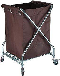 Chariot à Linge Chariot de trieuse de panier de blanchisserie commercial pliable sur la roue, chariot à roulettes de servi...