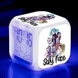BMSYTY 7 colores LED luz de noche reloj despertador dormitorio decoración regalo SeeChart15