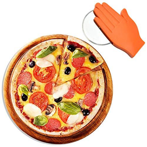 LxwSin Cortador de Pizza, Rueda Cortadora de Pizza, 2 PCS Co