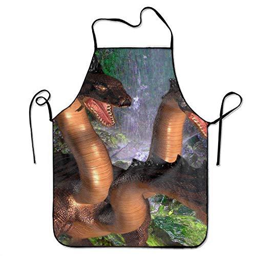 Not Applicable Fantasy Hydra Schürze mit verstellbar zum Kochen Backen Gartenarbeit